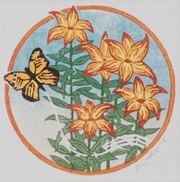 Monarch Among Lillies final print